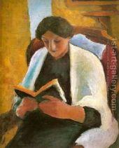 macke woman reading