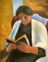 macke woman reading