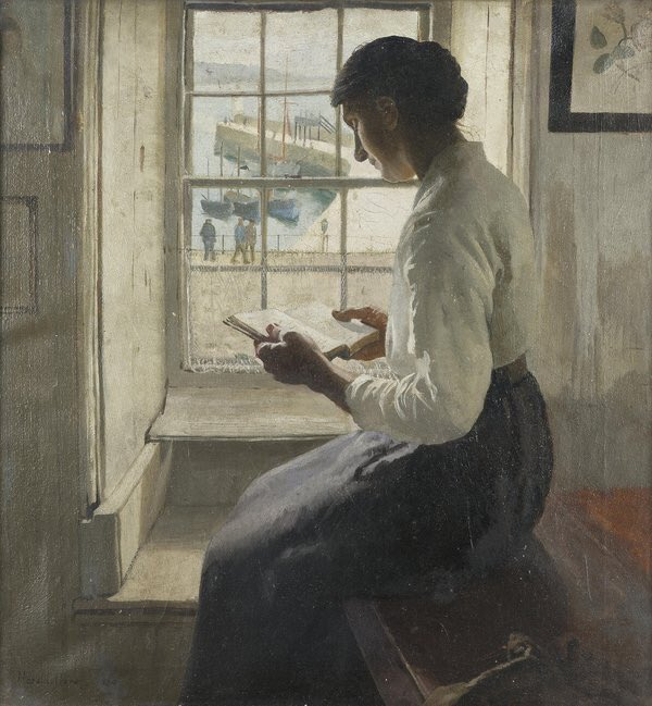 Latour reading woman