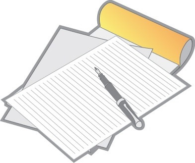 letter_paper_and_pen_vector_275746